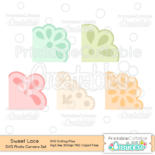 Sweet Lace Photo Corners SVG Cut File Set