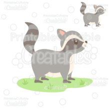 Cute Woodland Raccoon Cuttable SVG File & Clipart