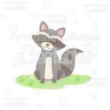 Sweet Woodland Raccoon Cuttable SVG File & Clipart