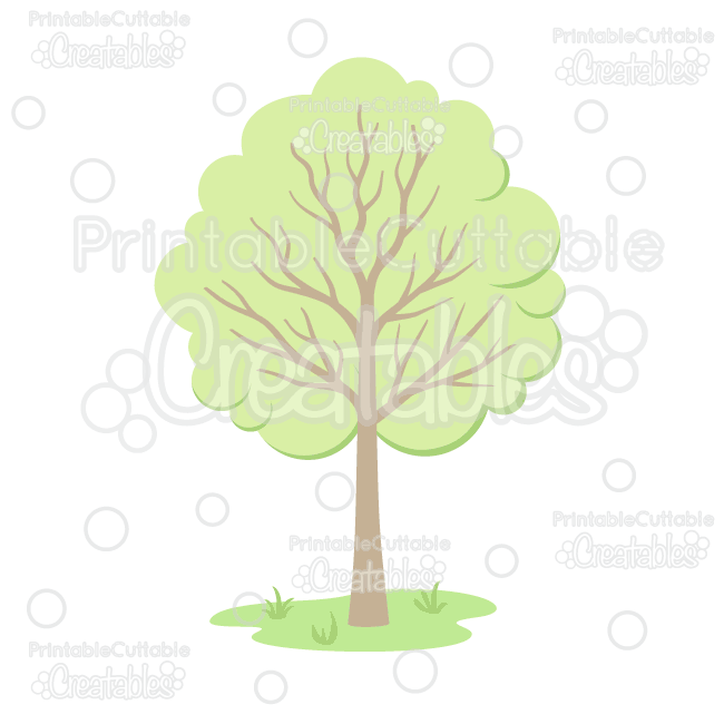 woodland tree cuttable svg file clipart for silhouette studio rh printablecuttablecreatables com Space Background Space Stars