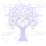 Swirl Heart Tree Free Cuttable SVG File & Clipart