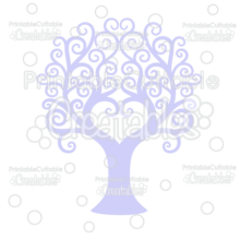 Swirl Heart Tree Free Cuttable SVG File & Clipart