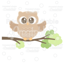 Cute Woodland Owl Cuttable SVG File & Clipart