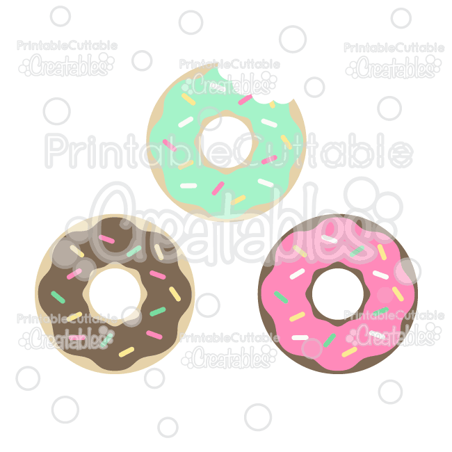 Sweet Donuts Cuttable Free SVG Files & Clipart