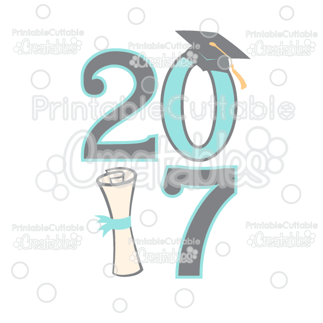 Graduation 2017 Free SVG File & Clipart