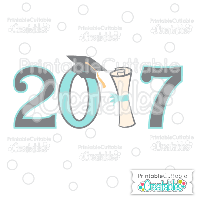 T048FB Graduation 2017 Free SVG Cut File preview et2