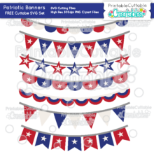 Patriotic Banners Free SVG Cut Files