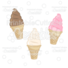 Soft Serve Ice Cream Cone Cuttable SVG File & Clipart