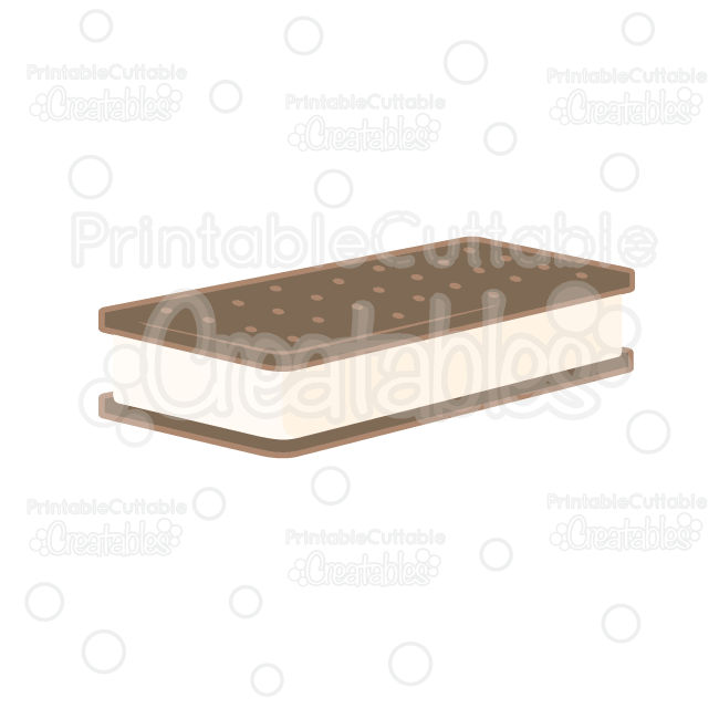 Ice Cream Sandwich SVG Cut File