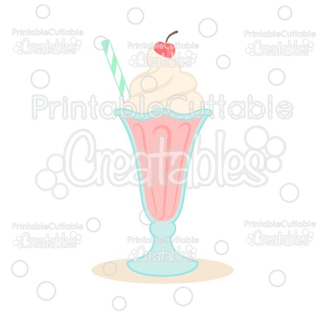 Milkshake SVG Cut File & Clipart