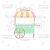 Ice Cream Stand SVG Cut File & Clipart