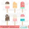 Summer Popsicles SVG File & Clipart Set