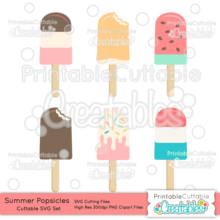 Summer Popsicles SVG File & Clipart Set