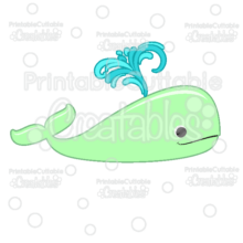 Cute Whale Free SVG File Digital Die Cut & Clipart