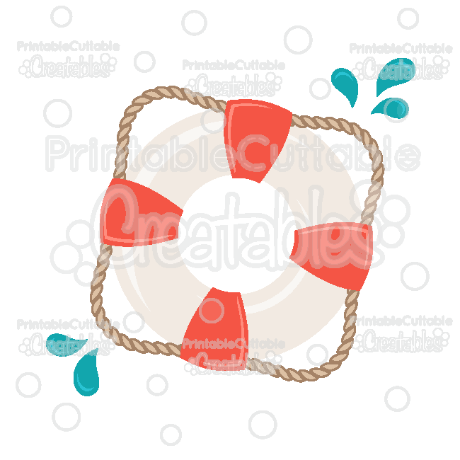 Lifesaver SVG Cut File & Clipart