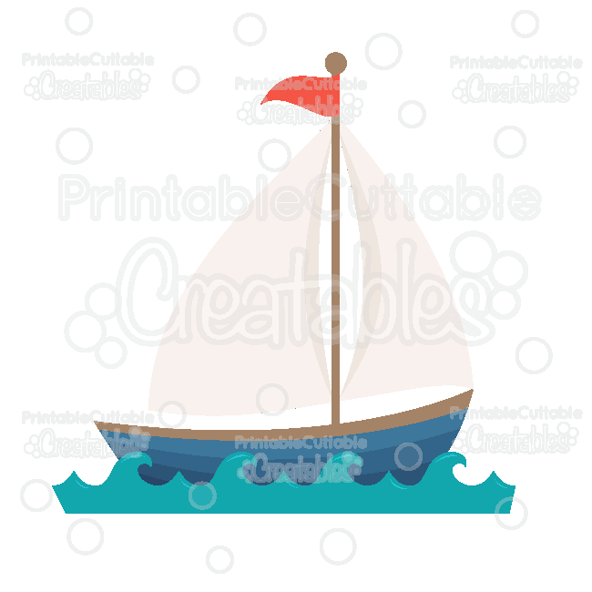 Sailboat Cuttable SVG File Digital Cut File