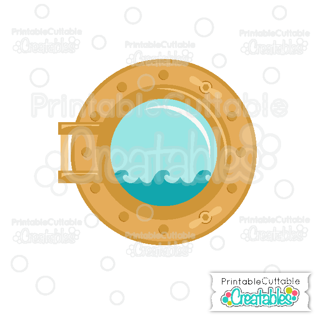 Ship Porthole Free SVG Cut File & Clipart
