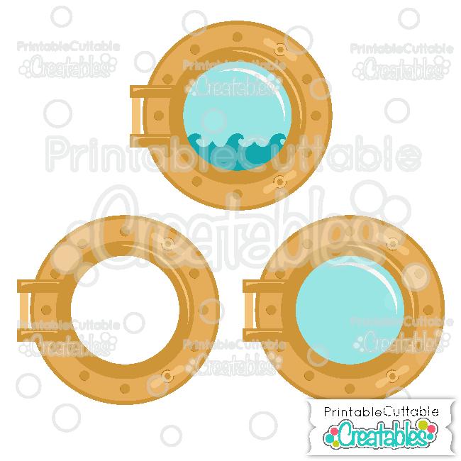 E293FB Ship Porthole Free SVG File preview2 et