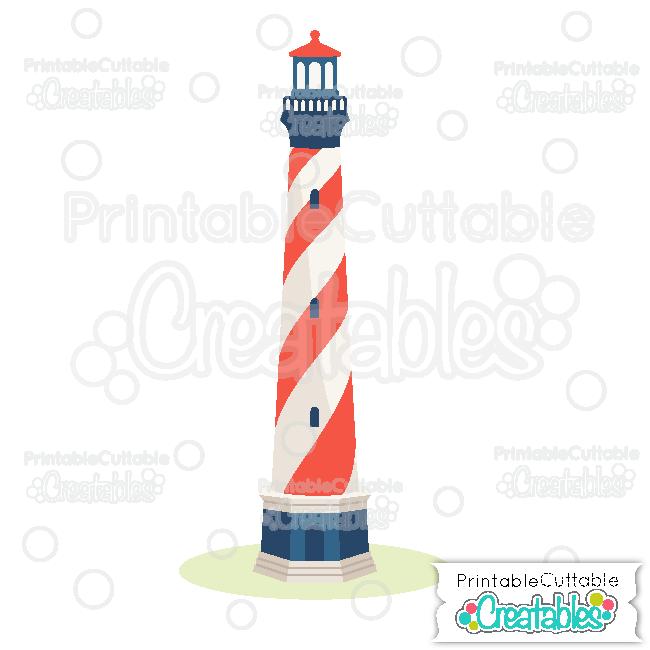 E294 Lighthouse Cuttable SVG File preview et2