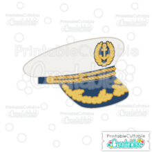 Ship Captain Hat SVG Cutting File & Clipart