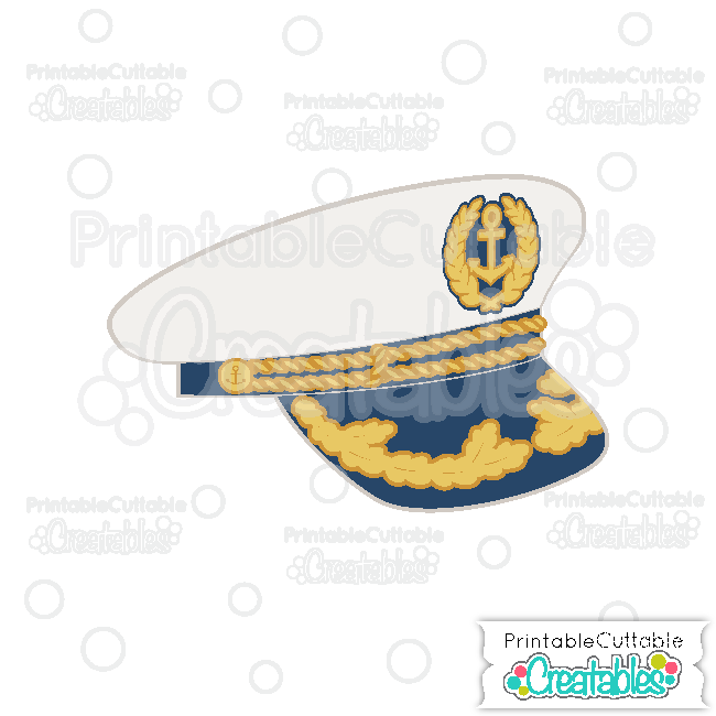 Ship Captain Hat SVG Cutting File & Clipart