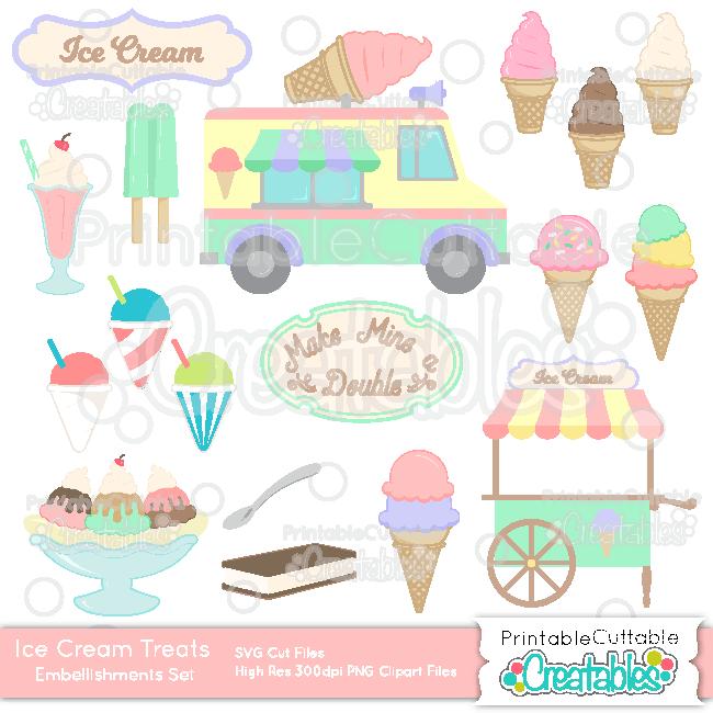 ES031 Ice Cream Treats SVG Embellishment Set preview