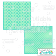 Mermaid Fish Scales Layered Backgrounds Free SVG Files