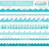 Ocean Waves Borders SVG Cutting Files