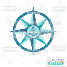 Nautical Compass Free SVG Cutting File