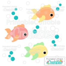 Cute Fish SVG Cutting File & Clipart