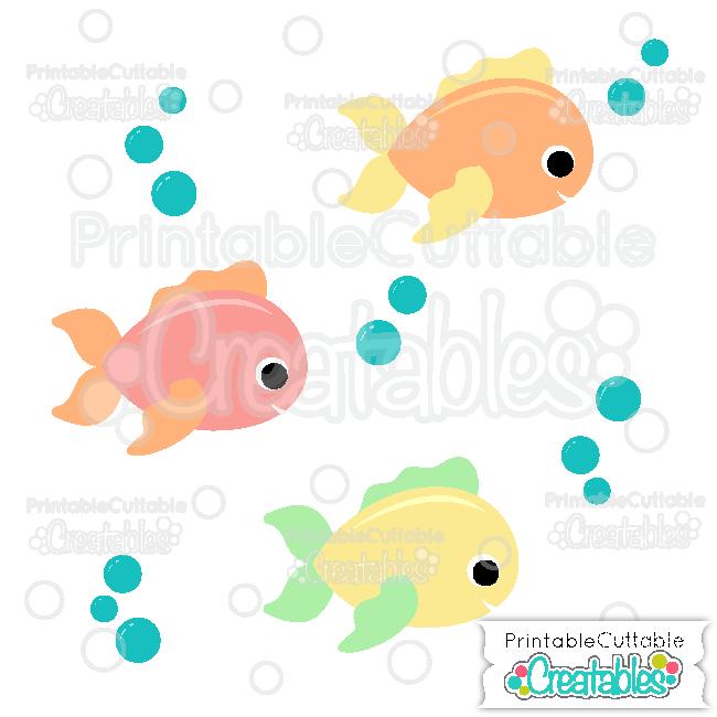 Download Cute Fish Svg Cut File Clipart For Cricut Silhouette