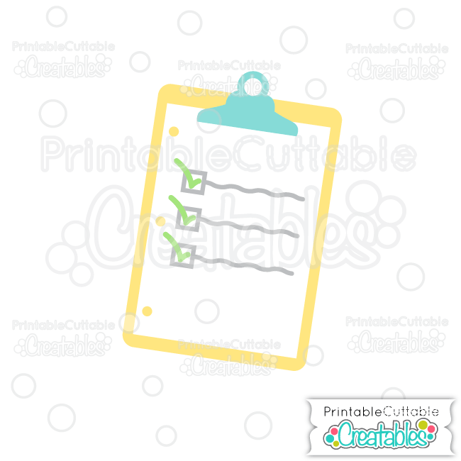 Clipboard Free SVG Cutting File & Clipart