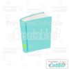 School Book SVG Cut File & Clipart