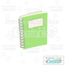 School Notebook SVG Cut File & Clipart