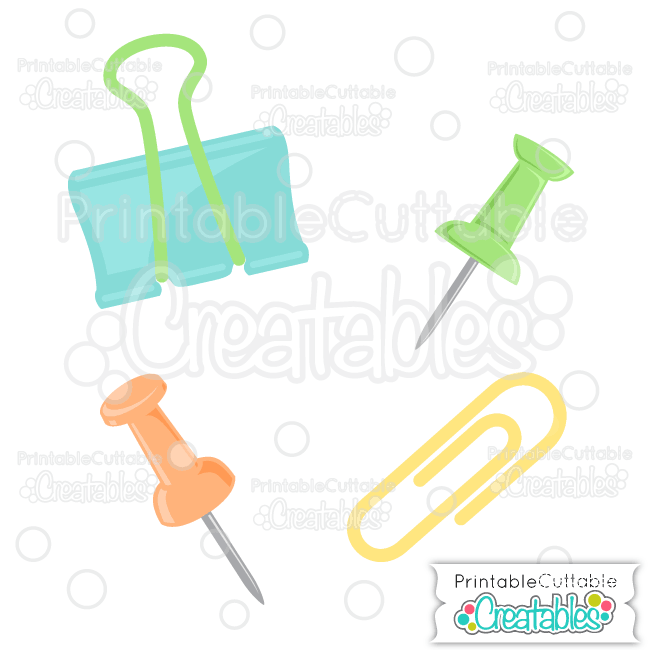 E304 Paperclips Pushpins SVG Cut Files preview2