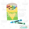 Box of Crayons Cuttable SVG Files