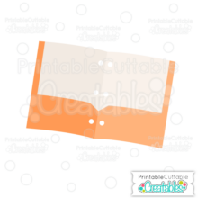 School Pocket Folder SVG Cut File & Clipart