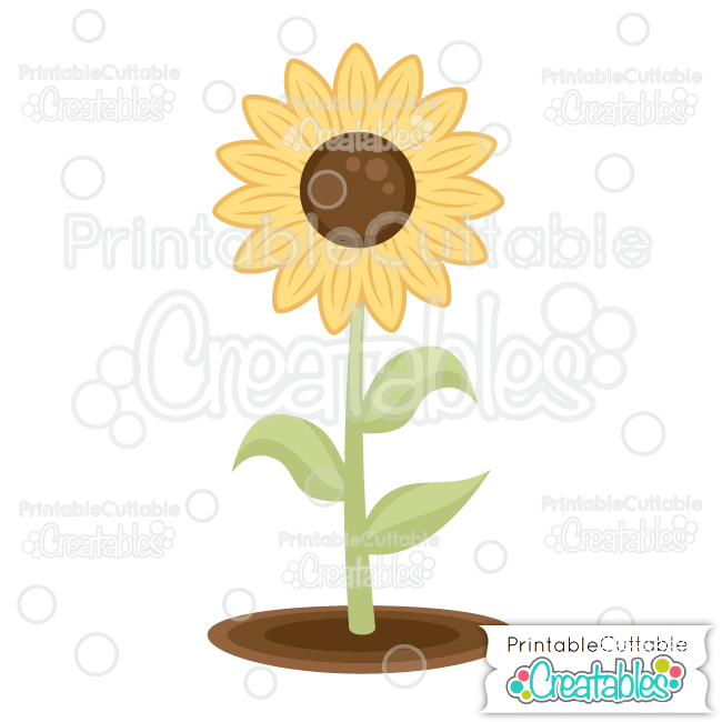 Sunflower Free SVG File & Clipart for Silhouette, Cricut