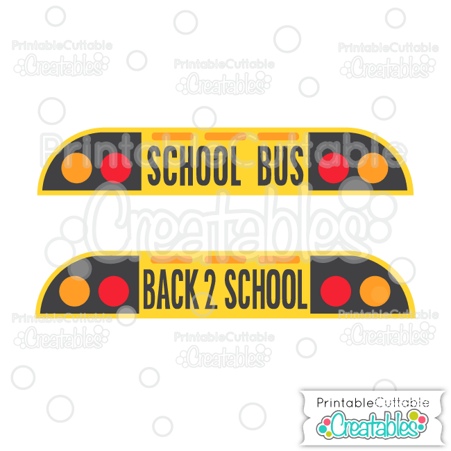 Front of School Bus Title SVG Cutting File