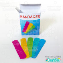 Printable Toy Bandage Stickers SVG Cut File