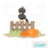 Cute Fall Crow SVG File & Clipart