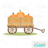 Fall Pumpkin Wagon Free SVG