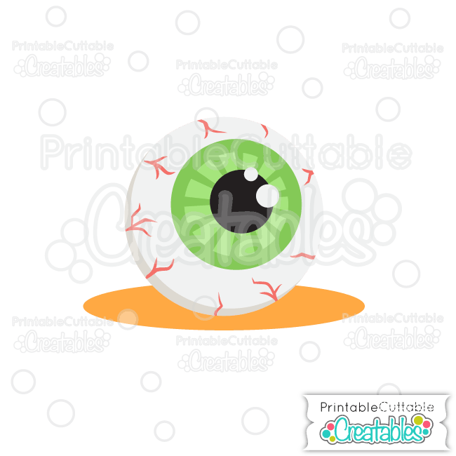 E319 Halloween Spooky Googly Eye FREE SVG File preview