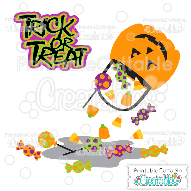 Trick or Treats Halloween Candy SVG Cut Files