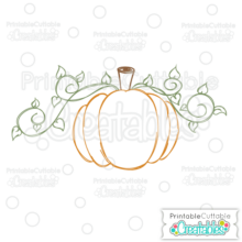 Pumpkin Free SVG Sketch File
