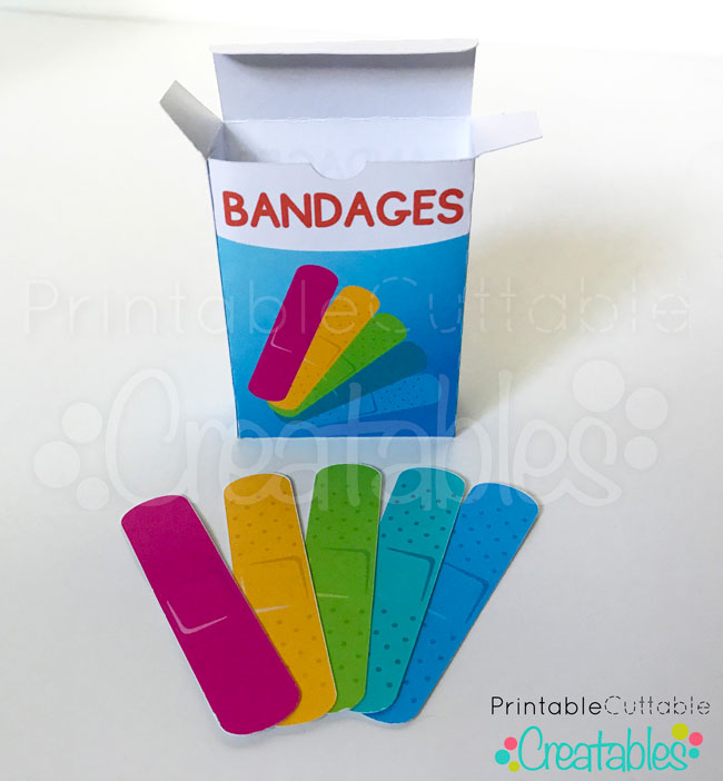 DIY Printable Toy Bandage Stickers