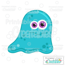 Blue Halloween Blob Monster SVG File