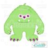 Halloween Hairy 3 Eyed Monster