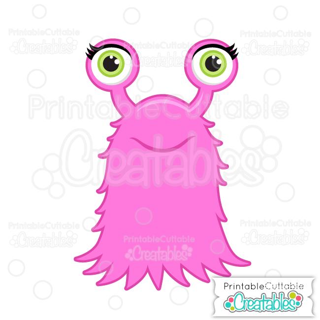 Halloween Hairy Girl Monster SVG File