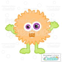 Halloween Hairy Puffball Monster